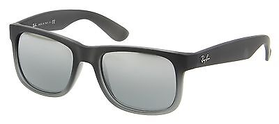 Ray Ban Justin RB4165 852/88 Grey /Silver Gradient Lens 55mm Sunglasses