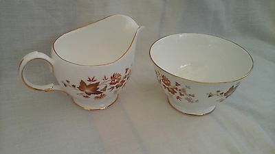 Vintage Colclough milk jug and sugar bowl in Avon pattern