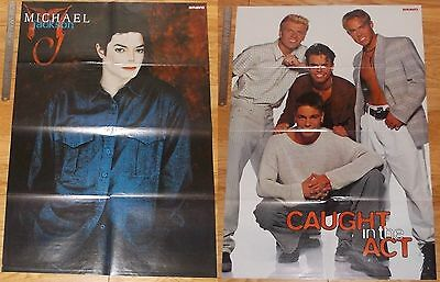 Original HUGE 8-page magazine POSTER Michael Jackson | Caught in the Act PHOTO