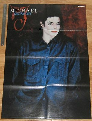 Original HUGE 8-page magazine POSTER Michael Jackson | Caught in the Act PHOTO 2