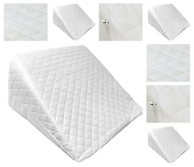 Flex Foam Support Bed Wedge Pillow Comfort MULTI PURPOSE Quilted Cover Pillow