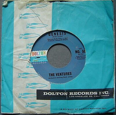"The Ventures - Yellow Jazcket / Genesis - 7"" - Dolton Records #do-762 - Rare"