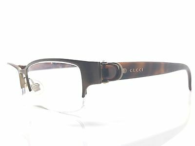GUCCI Semi-Rimless Gold & Tortoise Shell Used Glasses Eyeglasses Eyeglass Frame