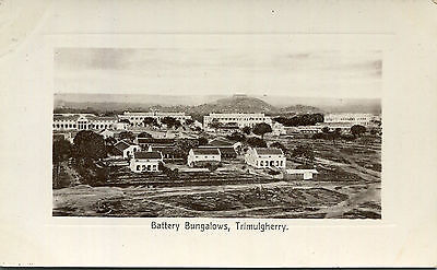 1930s postcard Battery Bungalows TRIMULGHERRY India