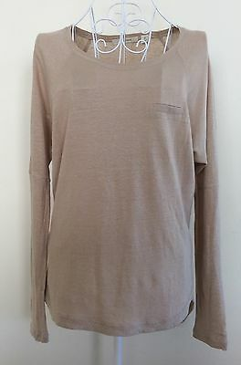 COUNTRY ROAD Beige Linen Blend Top-size XS