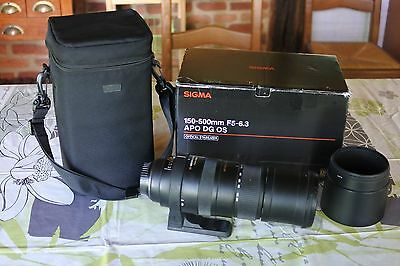 Objectif SIGMA 150-500 mm  f5-6,3 pour CANON