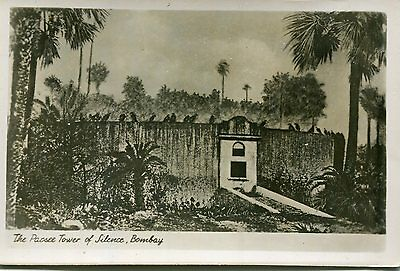 1930s postcard The Patsee Tower of Silence BOMBAY India