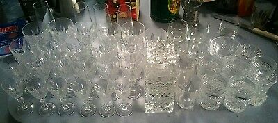 Various sets of Crystal Glasses including Decanter