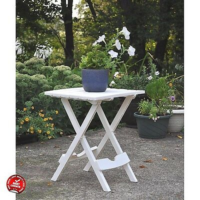 Garden Table Outdoor Camping Folding Picnic Portable Plastic Side White Furnitur