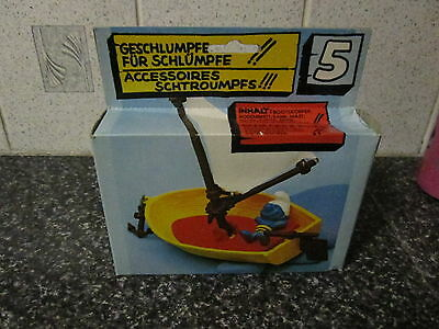 Smurf Boat Playset Germany in box vintage Rare (e)