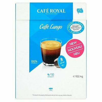 Cafe Royal Lungo Dolce Gusto Compatible Coffee Pods 16 per pack