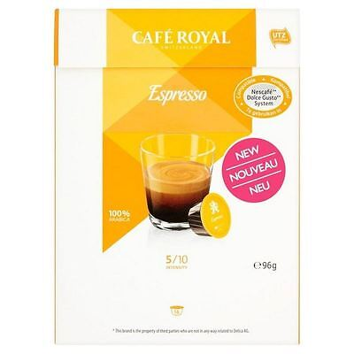 Cafe Royal Espresso Dolce Gusto Compatible Coffee Pods 16 per pack