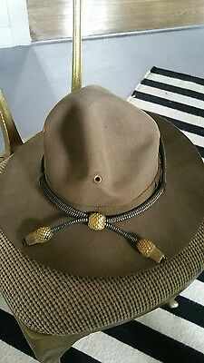 WWII Stetson US Army Officers Campaign Hat with Acorn Gold Band and box