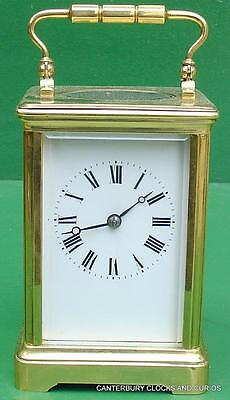 Couaillet Freres French Antique 8 Day Striking Corniche Carriage Clock