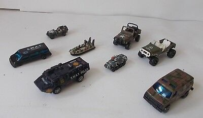 Bundle Of Toy Cars & Vehicles - Army / Military (13 Items)