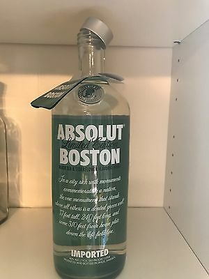 Absolut Vodka Boston Empty - No alcohol 1L Includes TAG