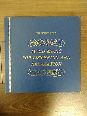 MOOD MUSIC FOR LISTENING & RELAXATION 60s UK Readers Digest Vintage 12 LP BoxSet