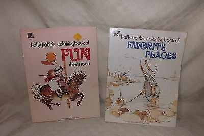 Vintage Holly Hobbie coloring books - Fun things to do & Favorite Places Unused