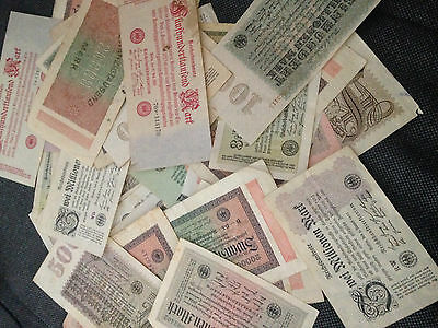 germany banknotes Kaiserreich 10 pieces from 1922 1923 the german hyperinflation