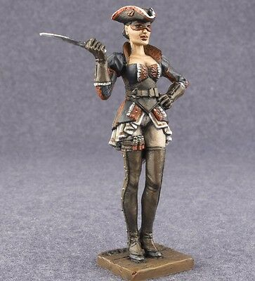 Toy Soldiers Figure Female Pirate 1/32 scale Assassin's Creed Painted Girl 54mm
