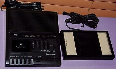Panasonic RR-930 Microcassette Transcriber W Foot Pedal Control -Great Condition