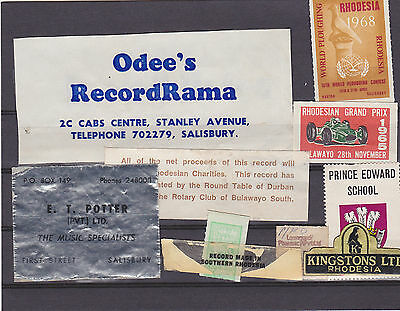RHODESIA, 10 different Commercial labels.