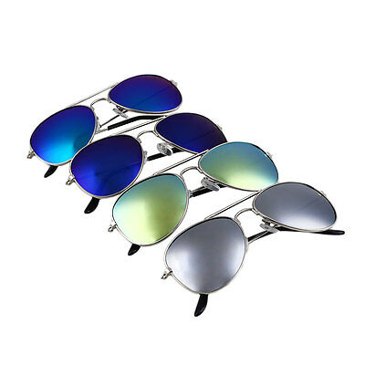 Children Kids Boys Girls Aviator Mirror Sunglasses Shades UV400 Protection Cool