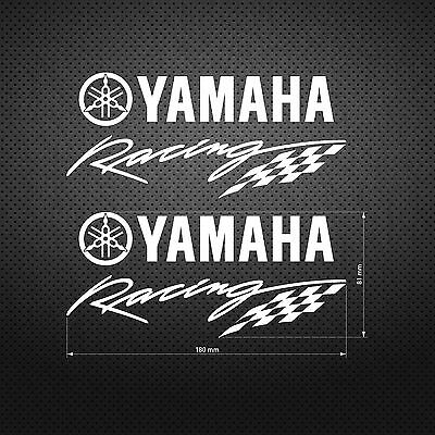 Yamaha Racing Flag STICKER DIE CUT DECAL VINYL 2 pcs
