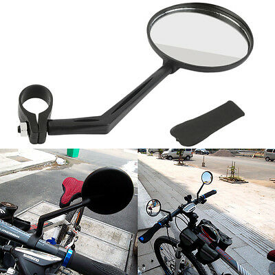 360 Degree Flexible Bicycle Bike Handlebar Rearview Vision Mirror Reflector SU
