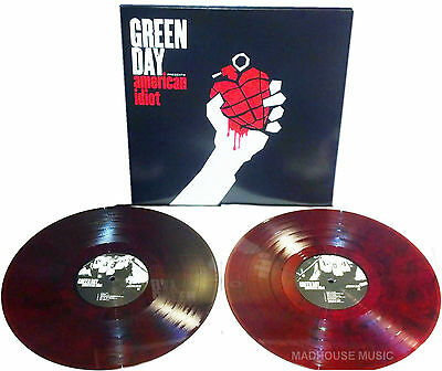 GREEN DAY LP x 2 American Idiot RECORD STORE Day Friday RED WHITE BLACK Wh vinyl