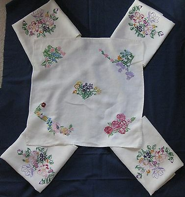 embroidered table linen