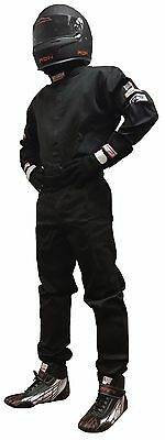 Usac Fire Suit Sfi 1 Race Suit Sfi 3-2A/1 One Piece Suit Black Adult Medium