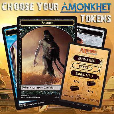 Choose Your Amonkhet AKH - Token Cards MTG - Buy 2 Get 1 Free! (Add 3 to Basket)