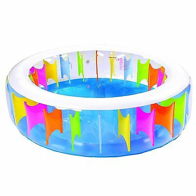 Giant Rainbow Inflatable Swimming Paddling Pool Garden Family Outdoor Summer Fun