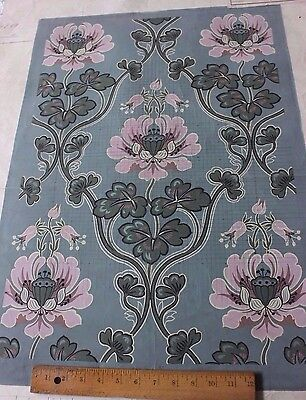 Beautiful French Art Nouveau Hand Painted Design/Art For Woven Jacquard Fabric