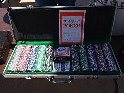 Brand New Poker Chip Set With Cards And Dealer Chips