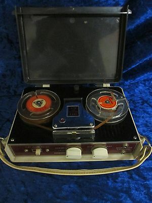 Vintage Japan 4TR A4411 Portable Reel to Reel Tape Recorder