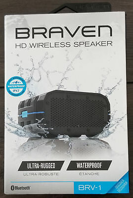 Braven BRV-1 Bluetooth HD Wireless Speaker Waterproof Ultra-Rugged NEW FREE LOOK