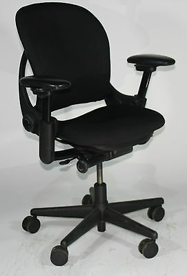 Steelcase Leap V1 Chair Recovered Black Fabric