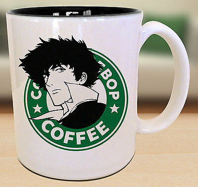 Spike Cowboy Bebop Starbucks Anime Manga Japanese Insipred Cartoon Geek Nerd Mug