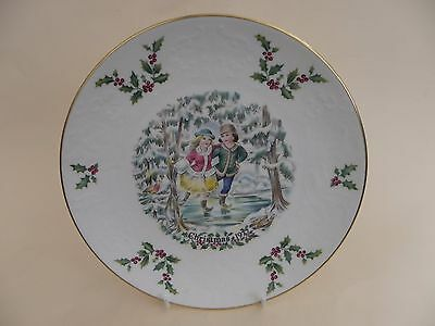 """Royal Doulton Bone China 8.25"""" Christmas Plate 1977, First of a Series."""