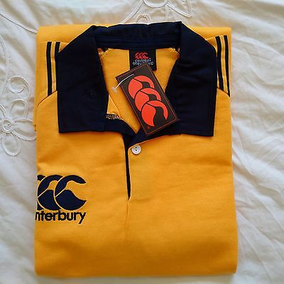 Brand New Canterbury Short Sleeved Rugby Shirt (Yellow and Blue) XL
