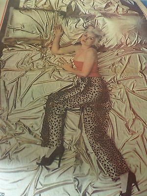 "Blondie Debbie Harry Double Page Poster From 1977 A2 Size ""in Bed Series"""