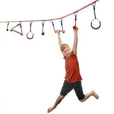 Slackers 30' NinjaLine Intro Kit with 7 Hanging Obstacles
