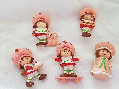 strawberry shortcake mini pvc 5 one with cake skateboard strawberries nightgown