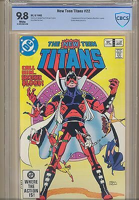 New Teen Titans #22 CBCS 9.8 First  Black Fire appearance: 1st Brother Blood DC