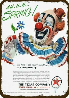 1950 TEXACO GAS & OIL Vintage Look Replica Metal Sign - CLOWN