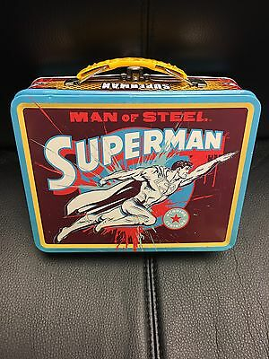 DC Comics Superman Man Of Steel Lunch Box The Tin Box Company Preowned