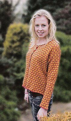 4 Version Tops & Cardigan  Pattern For Machine Knitting