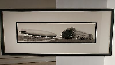 "large panorama repro photo of AIRSHIP ZR3 ""los angeles"" by clements"